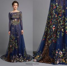 Forest Dream Dress (Designed by Hamda Al Fahim) Modest Dresses, Pretty Dresses, Long Dresses, Fantasy Dress, Designer Gowns, Spring Summer 2015, Dream Dress, Passion For Fashion, Evening Gowns