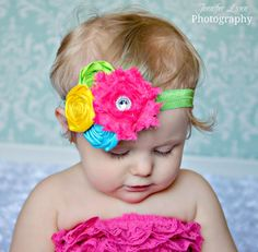 Flower Headbands Baby Girl Headbands Summer by spoiledNsweet, $13.95