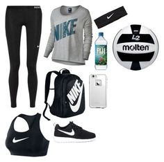 """Volleyball"" by southernannabelle ❤ liked on Polyvore featuring NIKE and LifeProof"