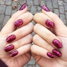 glitter nails festive manicure ideas  #glamour #nails #ideas