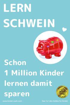 Weltweit in 1 Million Haushalten... Auch Kinder in Grundschulen in 14 Deutschen Bundesländern und 50'000 in Schweizer Primarschulen üben schon mit Kinder-Cash Budget Planer, Tape, Kids, Blog, Become Rich, Piggy Bank, Money Plant, Kids Discipline, Kids Learning