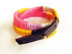 How to make cool bracelets out of string and leather – Pandahall