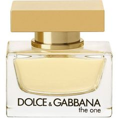 Dolce & Gabbana The One eau the Parfum -The One is a warm, oriental floral, with modern sensuality - a fragrance with a strong personality, and a contrasting golden sweetness. Notes: Bergamot, Mandarin, Lychee, Peach, Madonna Lily, Muguet, Plum, Jasmine, Vetiver, Vanilla, Amber, Musk.
