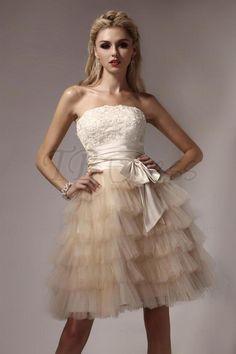 ❦ Gorgeous Mini Empire Strapless Dasha's Prom/Homecoming Dress