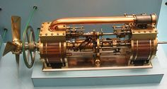 This is an axial or barrel engine, which has multiple cylinders arranged around… Boat Engine, Steam Engine, Stirling Engine, Motor Engine, Automobile, Combustion Engine, Mechanical Engineering, Mechanical Design, Diesel