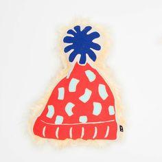 Waggo Winter Pom Pom Hat Stuffed Dog Toy