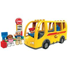 Lego Duplo Ville Bus (5636) Great construction fun with this Lego Duplo Bus! Take an exciting trip around town and collect the passengers at the bus stop. Dont forget to put their luggage in the storage compartment!Duplo pieces  http://www.comparestoreprices.co.uk/childs-toys/lego-duplo-ville-bus-5636-.asp