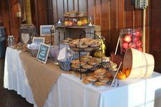 pie table. :  wedding cake inspiration pie reception rustic I XZJ4pZG L