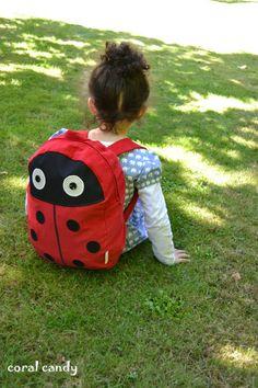 Ladybird / Ladybug Toddler Child Unisex Backpack by coralcandyshop, £30.00