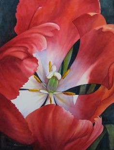 Inside A Tulip Painting  - Inside A Tulip Fine Art Print