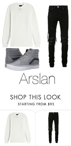 """""""Untitled #85"""" by halissiaelviracra on Polyvore featuring AMIRI and Vans"""