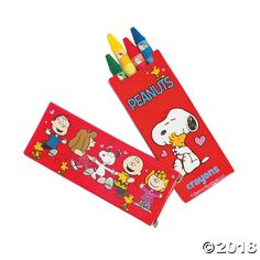 These mini Snoopy® crayons are great additions to your Peanuts® Valentine's gifts! Hand them out as party favors along with coloring DIY ...