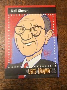 Lights of Broadway Card Neil Simon Autumn 2017 Movie Posters For Sale, Sale Poster, Autumn 2017, Theater, Broadway, Lights, Cards, Movies, Theatre