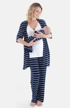 Everly Grey 'Roxanne - During & After' 4-Piece Maternity Sleepwear Set available at #Nordstrom
