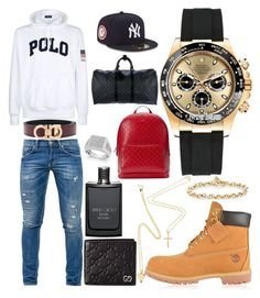 """Casual"" by pitbull8382 on Polyvore featuring Timberland, Ralph Lauren, Dondup, Salvatore Ferragamo, Gucci, Rolex, Hoorsenbuhs, Marco Ta Moko, Jimmy Choo and Louis Vuitton"