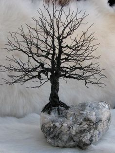 I think this is an incredibly beautiful and intricate structure that really speaks to me as I love seeing trees in art Hang Jewelry, Wire Wrapped Jewelry, Wire Jewelry, Diy Wall Art, Metal Tree Wall Art, Metal Art, Bad Azz, Bonsai, Wire Crafts