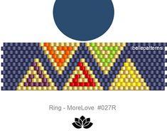 peyote ring pattern,PDF-Download, #027R, beading pattern, beading tutorials, ring pattern