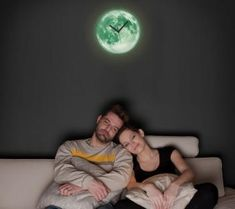 The glow in the dark moon clock features an actual image of the moon taken in France by an astronomy photographer, and is perfect for when you want to throw on some Pink Floyd's and watch the tim. Moon Clock, Cadeau Design, Dumpster Rental, Apollo Box, Dark Moon, Thing 1, Unique Gifts For Women, Halloween Home Decor, Halloween Decorations