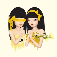 honey bee Art Print by kimberlyqueen Bee Illustration, Illustrations, Thai Art, Bee Art, Lowbrow Art, Pop Surrealism, Surreal Art, Contemporary Art, Art Prints