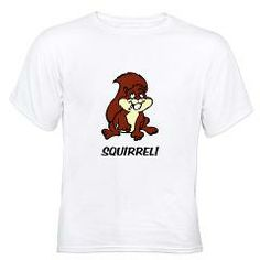 SQUIRREL White T-Shirt > SQUIRREL > Just Another Shop of Stuff