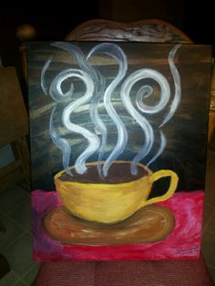 Coffee mug--painted January 10, 2014... (picture only, no link)