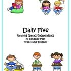 I created this overview for Daily Five to help make teaching it in my classroom much easier. I have included what will need to be taught each day a...