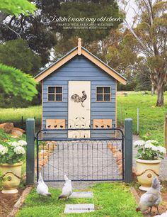 The cute henhouse that will be on the hobby farm I plan on retiring to