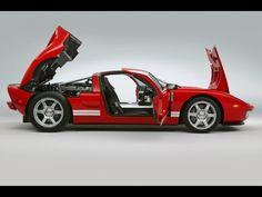 2005 Ford GT - Red - Side - Doors Open - 1280x960 Wallpaper