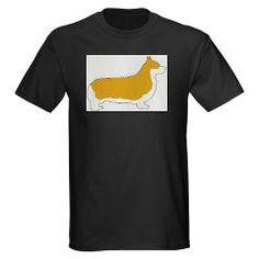 pembroke welsh corgi color silhouette T-Shirt > Pembroke Welsh Corgi > Paw Prints 5 #dog #pet #AKC #PembrokeWelshCorgi #Pembroke #PWC #Pem #Corgi #Wales