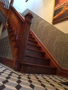 Glazed Lincrusta Dado in Stairway 1