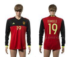 http://www.xjersey.com/belgium-19-dembele-home-euro-2016-long-sleeve-thailand-jersey.html Only$35.00 BELGIUM 19 DEMBELE HOME EURO 2016 LONG SLEEVE THAILAND JERSEY Free Shipping!