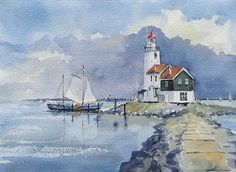 The Lighthouse from the former Isle Marken, by edohannema on Flickr
