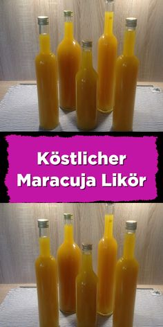 Köstlicher Maracuja Likör - Expolore the best and the special ideas about Liqueurs Ketchup, Chutney, Sauce Barbecue, Holiday Break, Candy Wrappers, Business Gifts, Calories, Hot Sauce Bottles, Whisky