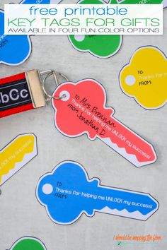 Printable Key Tags