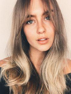 ♥️ Pinterest: DEBORAHPRAHA ♥️ curtain fringe for oval face hair style