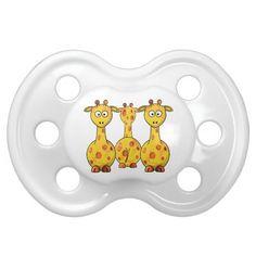 Three GIRAFFES Unique Baby Pacifier