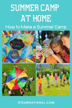 Give your kids a memorable and screen-free summer with a DIY summer camp! Kids will love these hands-on summer camp themes filled with summer activities. Summer Camp Themes, Summer Camps For Kids, Summer Activities For Kids, Ocean Theme Crafts, Beach Themed Crafts, Beach Crafts, Camping Books, Camping Theme, Summer Diy