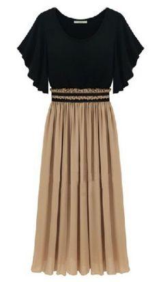 Black Nude Ruffles Short Sleeve Bandeau Chiffon Dress pictures