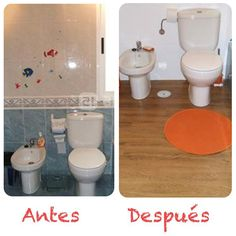 suelo vinilico, pintura azulejos Home Staging, Ideas Para, Toilet, San Rafael, Bathroom, Kitchen, Ideas, Honey, Home