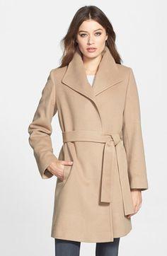 Fleurette Wing Collar Cashmere Wrap Coat (Nordstrom Exclusive)