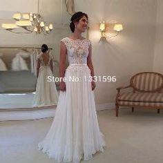 27 OFF   Robe De Mariage Bridal Dress Vestido De Noiva A Line Cap Sleeve  Backless Lace Wedding Dress 53139fb4ad39