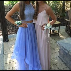 Periwinkle prom dress Two piece periwinkle prom dress worn once! Size 1. No rips/stains/holes etc. no alterations were made. beautiful dress for any formal event. (NOT SHERRI HILL, just wanted to be seen) Sherri Hill Dresses Prom