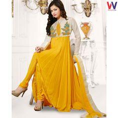 Drashti Dhami In Yellow Colored Designer Salwar Suit#Womansvilla