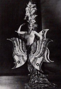 Vintage Halloween butterfly costume.