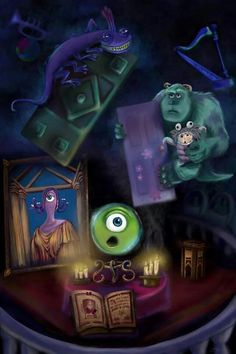 Monsters Inc in the Haunted Mansion