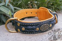 Is you dog a special one for you? Do you want him always to look fashionable? Do you want to provide your four-feet friend with the most comfortable and safe supply?  Then, all these features are about this 40 mm Wide Nappa Padded Leather Dog Collar with Braids and Brooches.  The perfect combination of functionality, high-quality materials and attractive design makes this dog item ideal for regular walking in style, comfortable handling and successful training.
