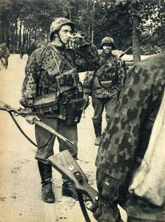 Waffen-SS, in their unique camo pattern. 1940.