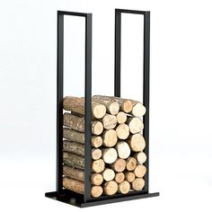 You need a indoor firewood storage? Here is a some creative firewood storage ideas for indoors. Firewood Stand, Indoor Firewood Rack, Firewood Holder, Firewood Storage, Small Fireplace, Fireplace Tools, Fireplace Design, Recycled Trampoline, Fire Pit Grill