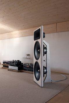 OZ speaker. Acoustic Elegance 15s in open baffle.