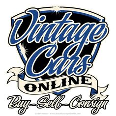 """Vintage Cars Online"" chest pocket logo #Tshirt #logo #artwork"